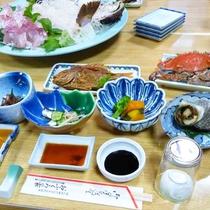 (夕食)瀬戸内海で獲れた新鮮な魚をいろんな調理方でおもてなし。