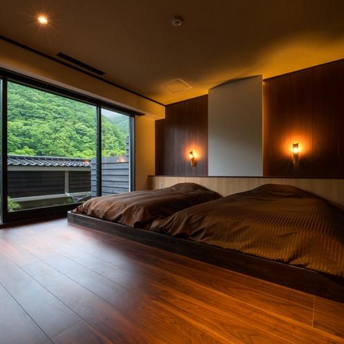 半露天風呂付き客室