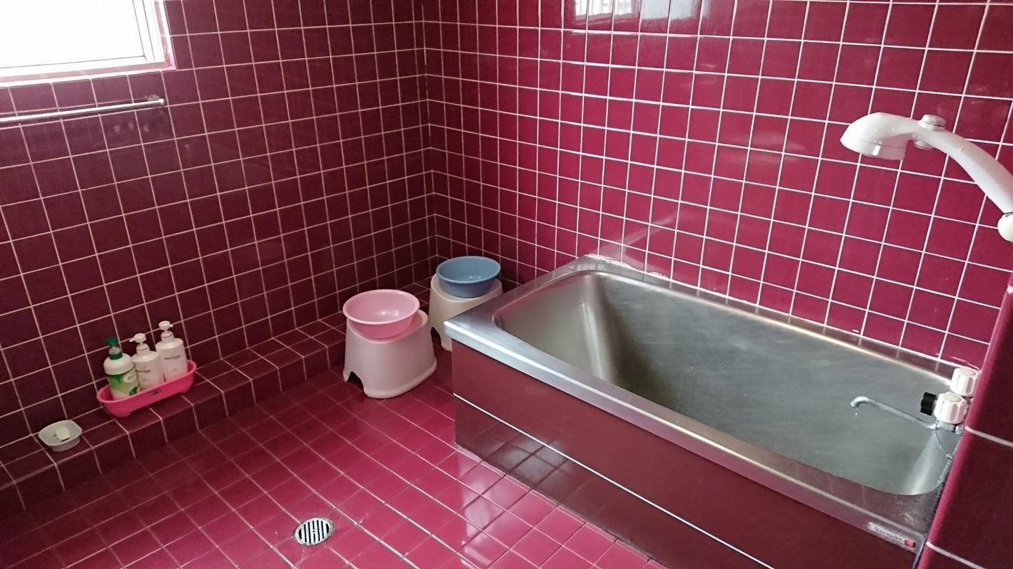 女性専用ドミトリールーム内のひろびろ快適バスルーム