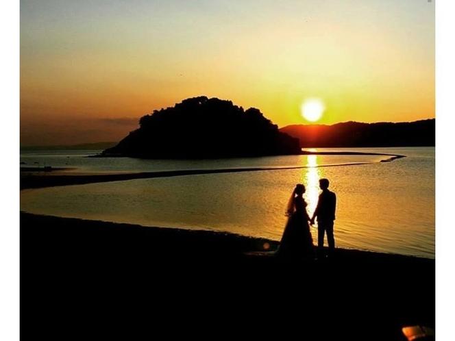 ~黒島のヴィーナスロードの夕景~