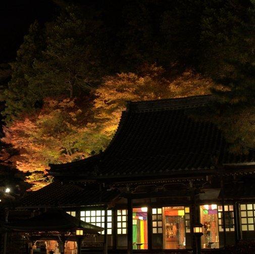 温泉寺紅葉ライトアップ