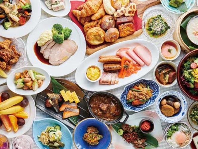 朝食:バランスの良い和洋食のブッフェ(イメージ)