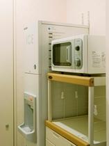 電子レンジ&製氷機(各階に設置)