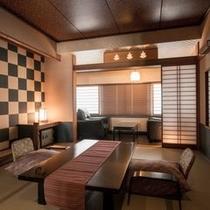 【ベッド付き和風客室〜末広〜】