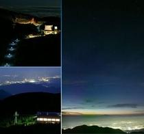 【夏夜の空中遊泳】満天の星空と眼下に輝く夜景をお楽しみ下さい