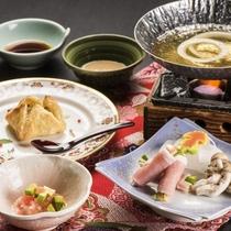 選べるメイン料理【竹】/米の娘ぶたと地野菜の巻しゃぶ&国産牛のパイ包み