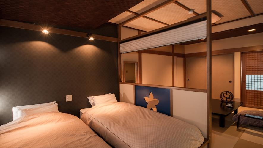 【ベッド付き和風客室〜桔梗〜】