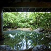 【露天風呂】岩風呂