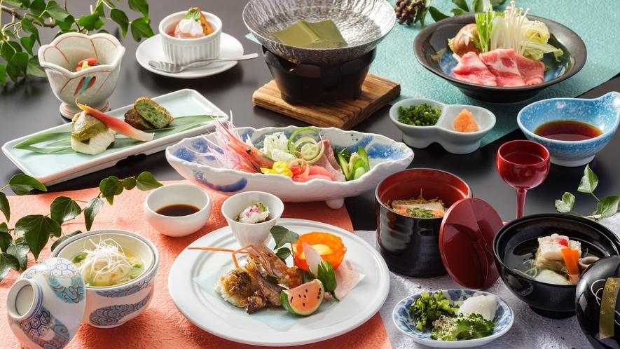 和食会席料理の一例(ワイド)