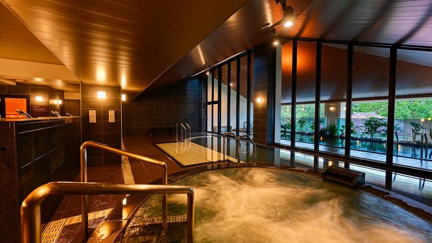 【大浴場】広々とした空間で快適な時間を