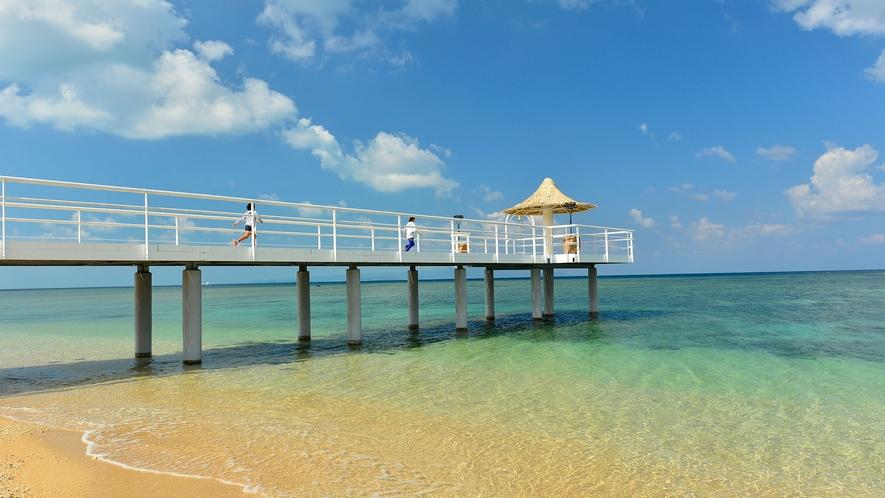 【フサキエンジェルピア】海にかかる桟橋からの景色は絶景