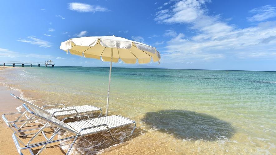【ビーチ】サンゴ礁の天然白砂ビーチで癒しのひと時を