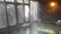 降り注ぐ光りが心地よい、朝の「次田の湯」