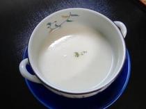 お夕食一例(蕪のスープ)