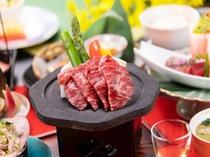 福島牛の溶岩焼き