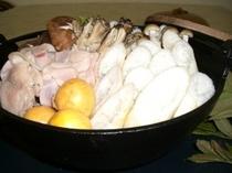 夕食一例/秋田名物きりたんぽ鍋