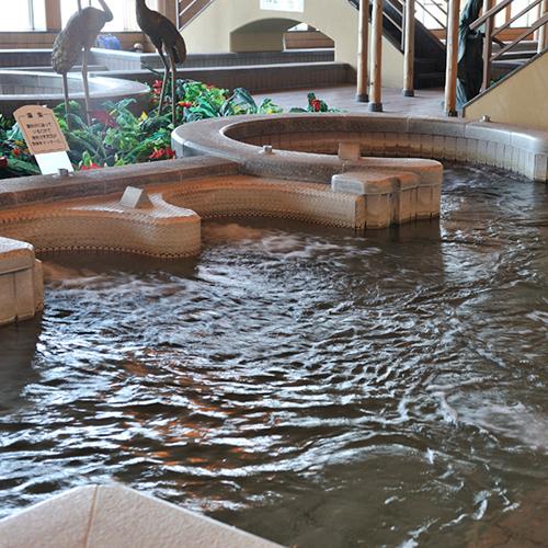 *【富士の湯:展望大浴場 内湯】「湯楽」に浸かれば、のんびり疲れがほぐれます