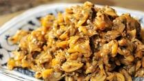 **【朝食バイキング(一例)】木更津といったら、あさり!美味しい佃煮をご用意しております♪