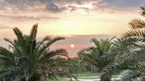 **【ガーデンプール(一例)】東京湾に沈む夕陽は、皆様に見に来てほしい絶景です。