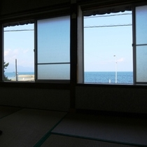 オーシャンビューのお部屋からの眺めです