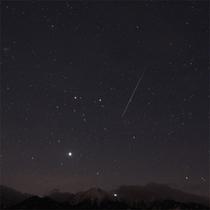 ★真夜中に流星と八ヶ岳★