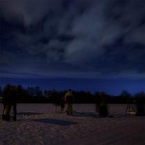 冬の星空観賞会風景