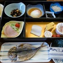 朝食(一例)朝からしっかり和朝食を食べて、元気にご出発ください♪