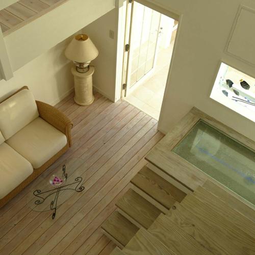 ■アイランドスイート12号室[室内1二階からの眺め]