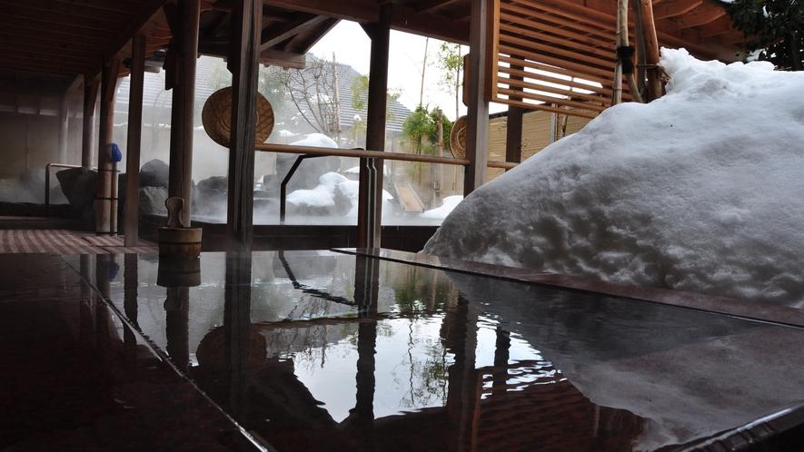 【冬の季里の湯】男性露天ジャグジー「泡風呂」