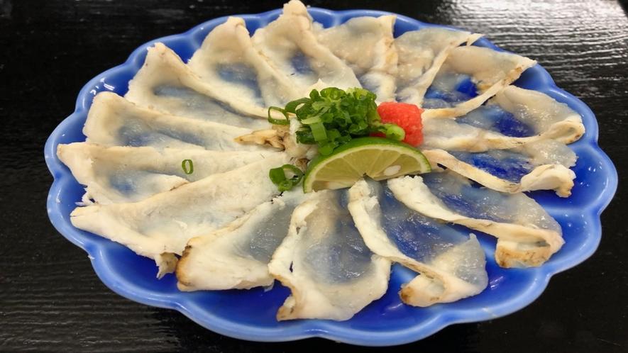【別注料理:フグのたたき】