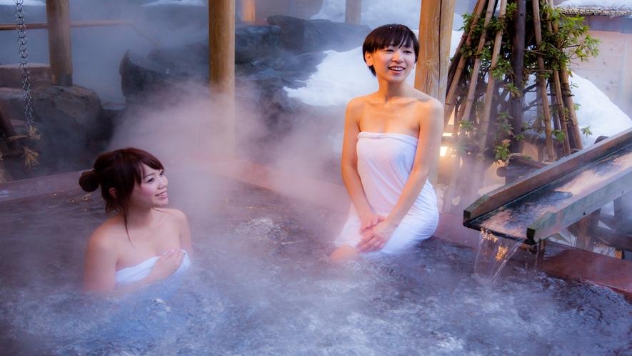 【冬の季里の湯】女性露天ジャグジー「庭咲きの湯」