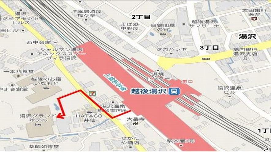 駅からの徒歩案内図