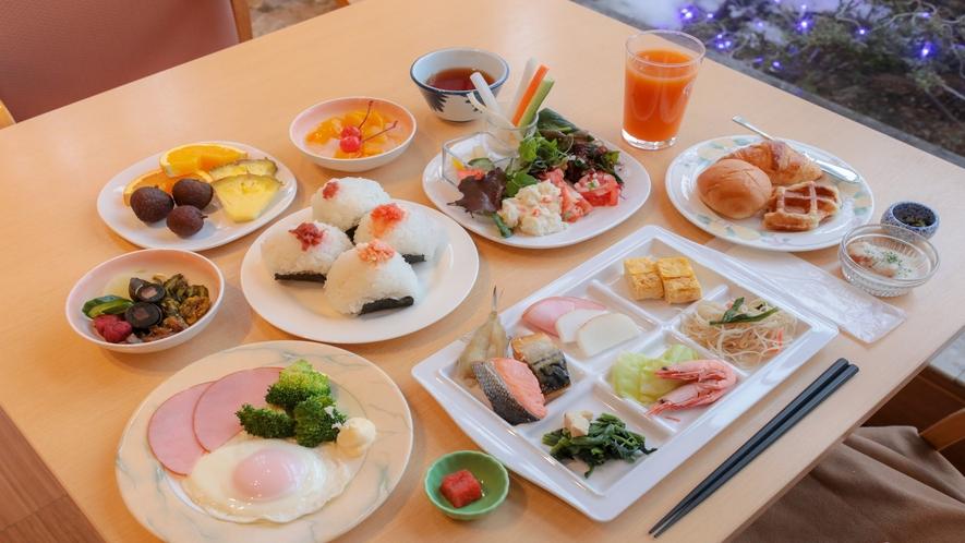 【朝食バイキング】種類豊富な和洋中バイキングメニューに満足満腹!