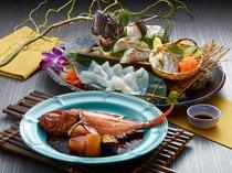 冬の金目鯛と伊良湖の平目付き 旬菜ビュッフェ