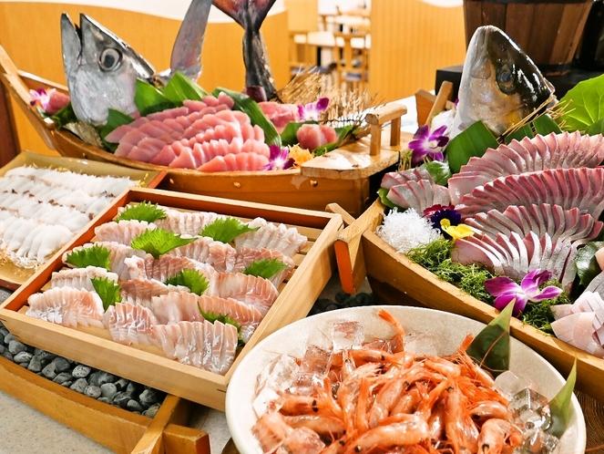 伊良湖の魚処『 地魚 造り 』などの刺身