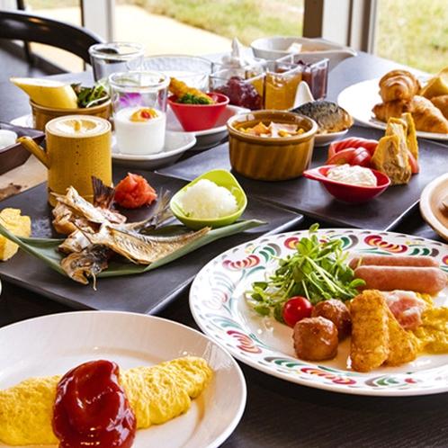 【半島の旬菜ビュッフェ】(朝食)産地直送たまごのオムレツや地魚の焼き魚が人気