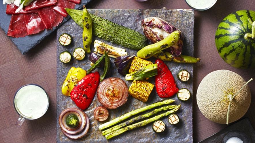 夏野菜のグリル マッシュサラダ