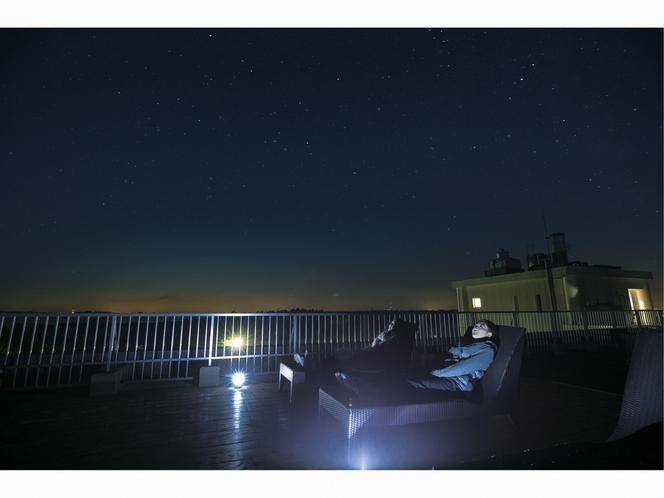 満点テラスから眺める星空
