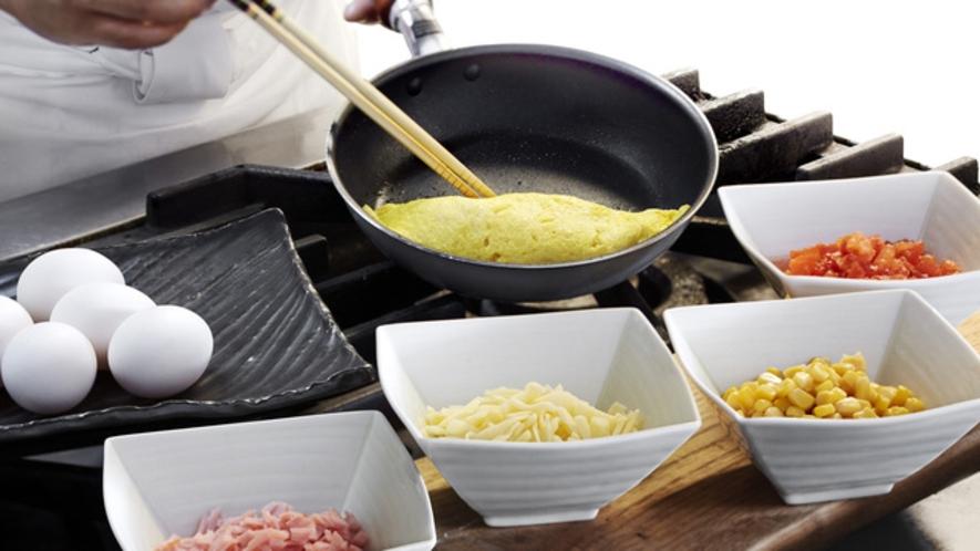 朝食:手作りふわふわオムレツ