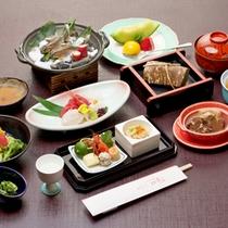 *【華の膳一例】お魚メインバージョン。滋賀の旬の食材を使用した会席コース。