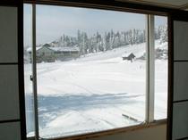 スキー場の見えるお部屋