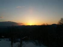 エーデルワイスから見える朝日