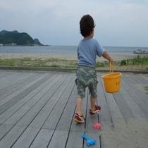 ビーチまでダッシュ!!