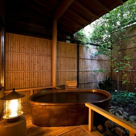 1階露天風呂付き客室【早蕨】 露天風呂