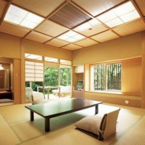 1階露天風呂付き客室【横笛】