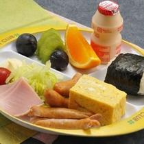 幼児の朝食は卵焼きが人気です