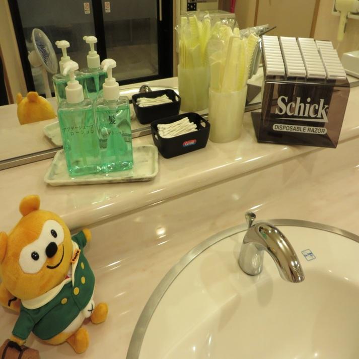 ◆男性大浴場アメニティ◆切れ味爽快なかみそり、シェービングフォームも完備!