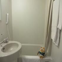 ◆ユニットバス◆大浴場もあるけど客室の浴室も機能的なんだ!