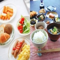 ◆朝食の一例◆あなたは和食派?洋食派?