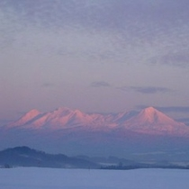 ◆冬の大雪山系◆天気次第で雄大な大雪山系をご覧いただけます